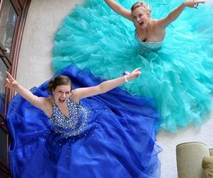 ball gown, evening dress, and prom dress image