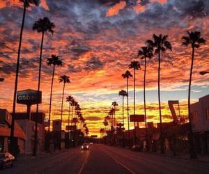 sunset, amazing, and la image