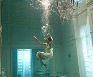 drown, picture, and woman image