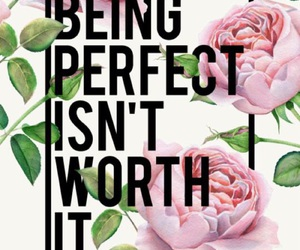 quote, flowers, and perfect image