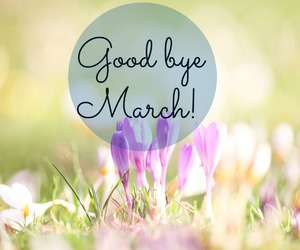 april, good bye, and spring image