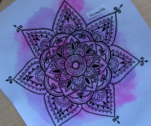 art, color, and mandala image