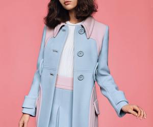 pink, blue, and Felicity Jones image