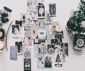 witch, tarot, and art image