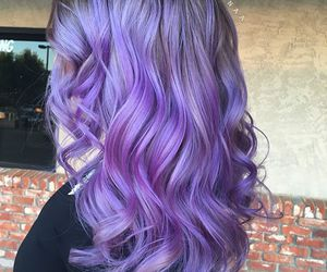 hair long purple curly image