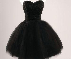dress, black, and girly image
