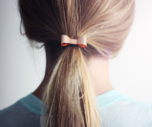 hair, fashion, and bow image