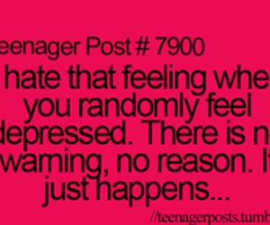 teenager post, depressed, and depression image