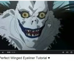 death note, eyeliner, and funny image