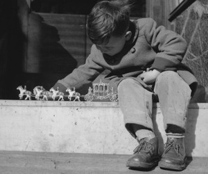 black and white, boy, and child image
