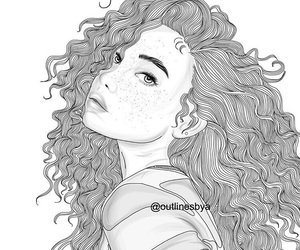 hair and outline image