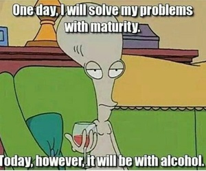 alcohol, problem, and funny image