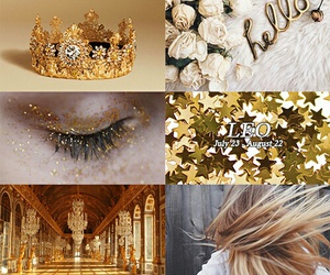 gold, aesthetic, and Leo image