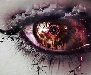 art, eyes, and digital art image
