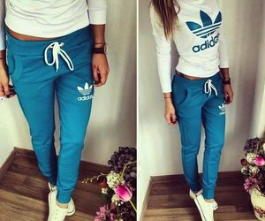 adidas, pants, and shirt image