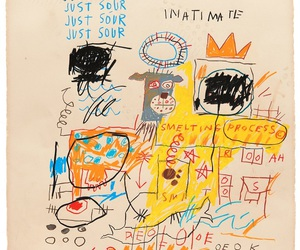 art, Jean-Michel Basquiat, and new york city image