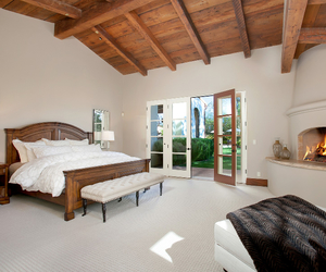 bed, bedroom, and california image