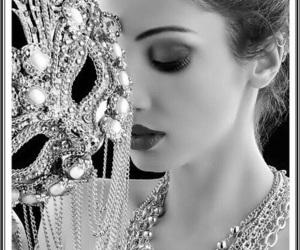 mask, beauty, and woman image