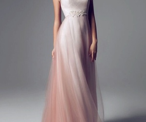 dress, woman, and pink image