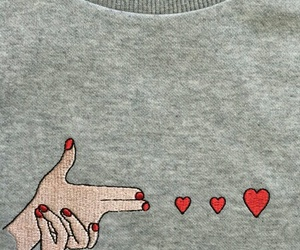 heart, grunge, and gun image