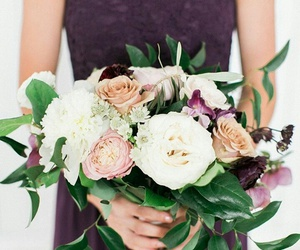 beautiful, bouquet, and wedding image