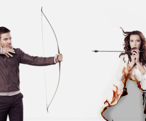arrow, katie cassidy, and stephen amell image