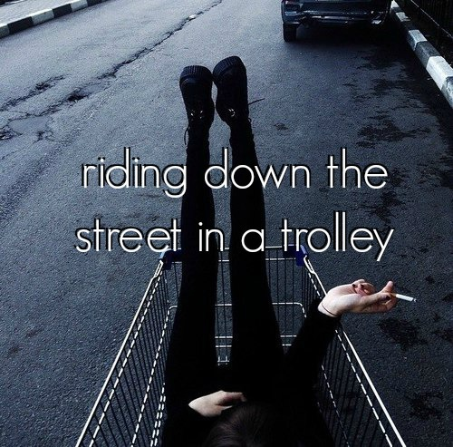 beforeidie, riding, and trolley image