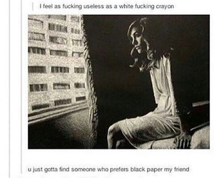 tumblr, quotes, and black image
