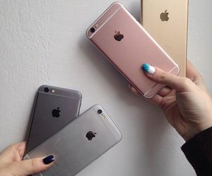 apple, iphone, and rose gold image