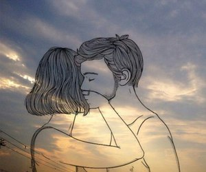 couple and outline image