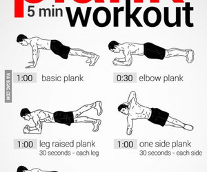 workout, plank, and fitness image