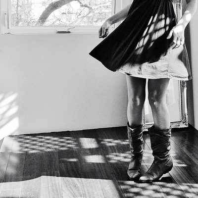 boots and black and white image