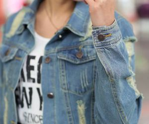 cool, denim, and jean jacket image
