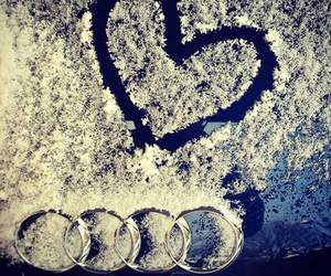 audi and snow image