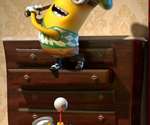 minions and golf image