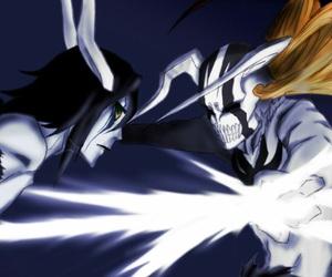 bleach, Ichigo, and Ulquiorra image