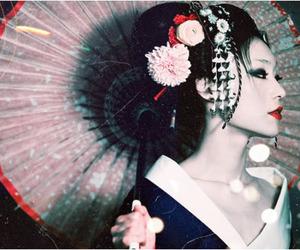 geisha, japan, and japanese image
