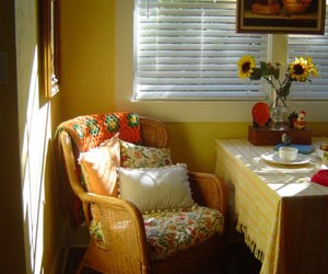 cottage, dining, and yellow image