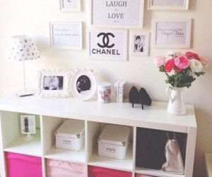 room, pink, and chanel image