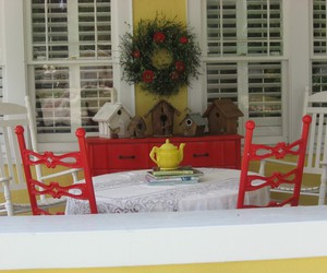 red, vintage, and cottage image