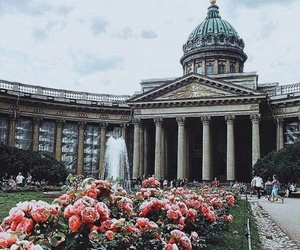 flowers, russia, and architecture image