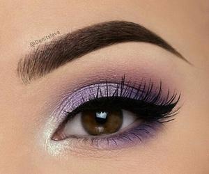 eye, purple, and girl image