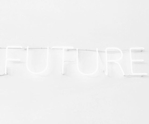 future, minimalistic, and neon lights image