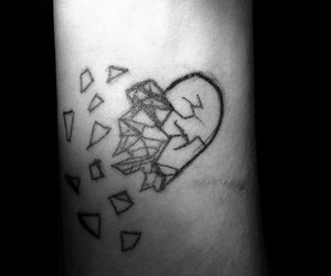 broken heart and tatoo image