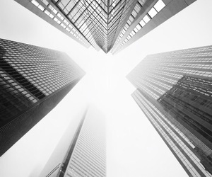 building, city, and black and white image