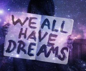 Dream, text, and stars image