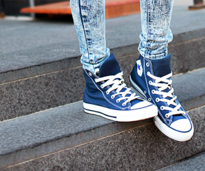 chucks, jeans, and blue image