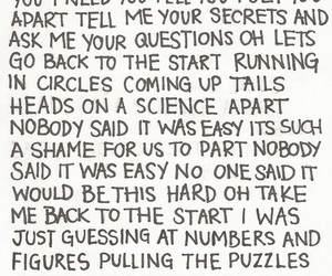 coldplay, Lyrics, and the scientist image