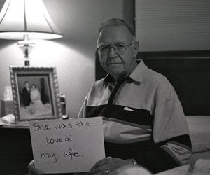 old man, photography, and sign image