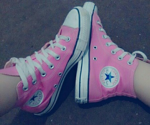 all star, fashion, and pink shoes image